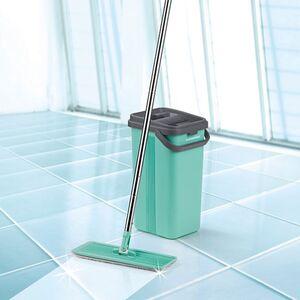 CLEANmaxx Wischmopp Smart 9-tlg. türkis/grau 2 Kammern-System