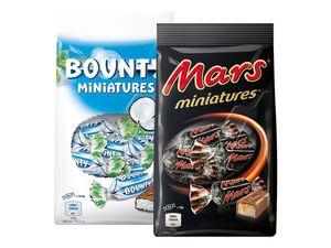 Bounty/Mars/Twix/Snickers Miniatures
