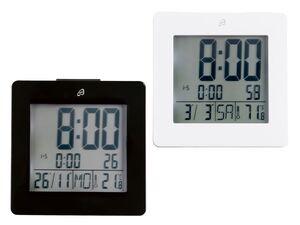 AURIOL® LCD Funkwecker, mit Temperaturanzeige, Kurzbeleuchtung, Schlummerfunktion