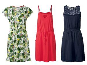 ESMARA® Kleid Damen, mit Eingrifftaschen, mit Baumwolle und Elasthan