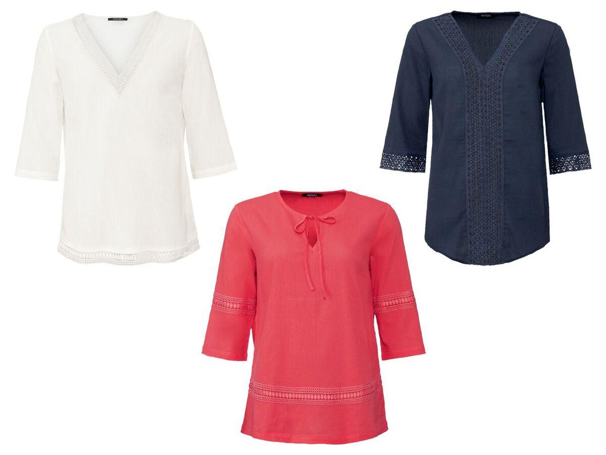 Bild 1 von ESMARA® Tunika Damen, mit Spitze, mit Baumwolle