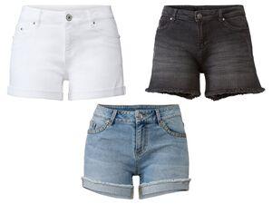 ESMARA® Jeansshorts Damen, 5-Pocket-Style, mit Baumwolle und Elasthan, trocknergeeignet