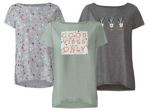 ESMARA® T-Shirt Damen, mit Print, verlängerte Rückenpartie, mit Viskose