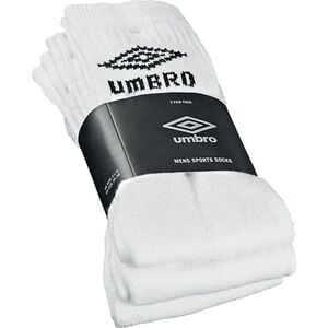 Umbro Sport Socken 3er, weiß 39 - 42