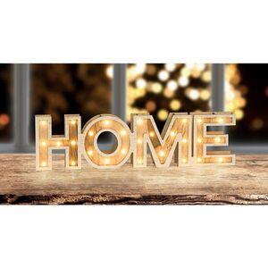 Dekor Holzdekoration mit LED -Schriftzug Home