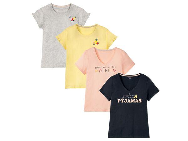 ESMARA® Lingerie Schlafshirt Damen, mit modischem Print, mit Baumwolle