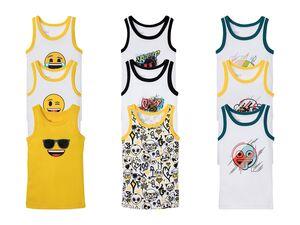 Emoji Kleinkinder Unterhemden Jungen, 3 Stück, aus reiner Baumwolle