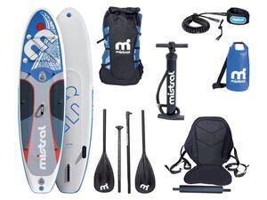mistral Stand up Paddleboard, 150 kg Belastbarkeit, 3 Finnen, Doppelkammer