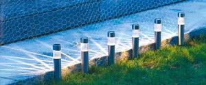 6er-Set Edelstahl Solarlampe