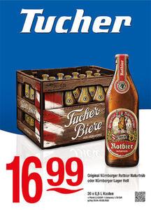 Tucher Tucher Original Nürnberger Rotbier Naturtrüb oder Nürnberger Lager Hell