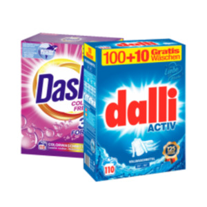 Dalli oder Dash Waschmittel