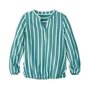 Damen-Bluse mit Bund am Saum