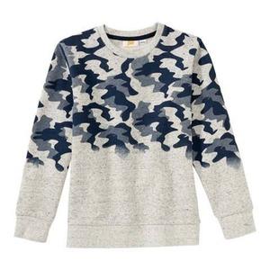 Jungen-Sweatshirt mit Camouflage-Muster