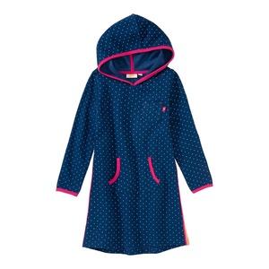Mädchen-Sweatkleid mit Punkte-Muster