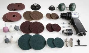 Druckluft Bohrmaschinen - und Schleif - Set mit umfangreichen 33-teiligen Zubehör Westfalia