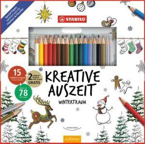 STABILO Kreative Auszeit Wintertraum, 17 Farben, inkl. Malbuch 78 Motive mehrfarbig