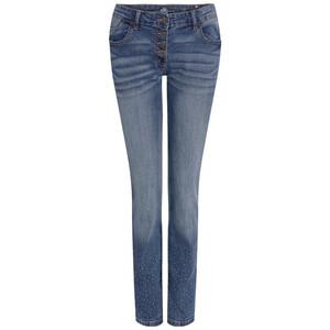 Damen Slim-Jeans mit Ziersteinchen