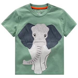Baby T-Shirt mit Elefanten-Applikation