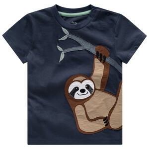 Baby T-Shirt mit Faultier-Applikation