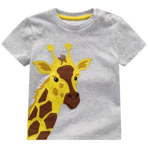 Baby T-Shirt mit Giraffen-Applikation
