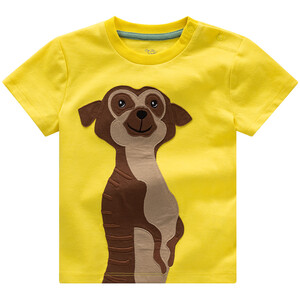 Baby T-Shirt mit Erdmännchen-Applikation