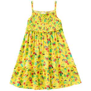 Mädchen Kleid mit Tropical-Allover