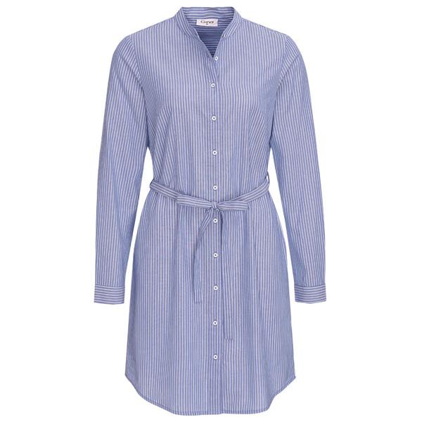 Damen Hemdblusenkleid mit Längsstreifen