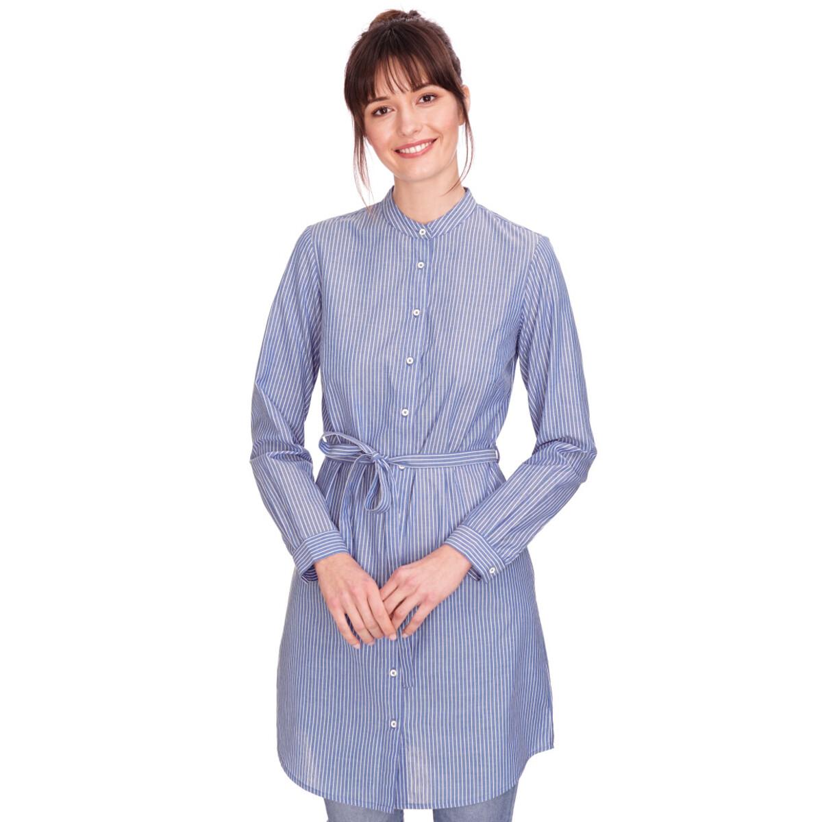 Bild 2 von Damen Hemdblusenkleid mit Längsstreifen