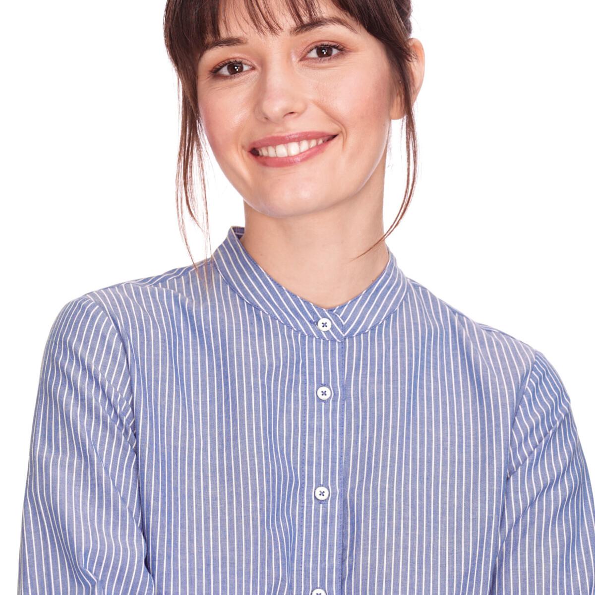 Bild 4 von Damen Hemdblusenkleid mit Längsstreifen