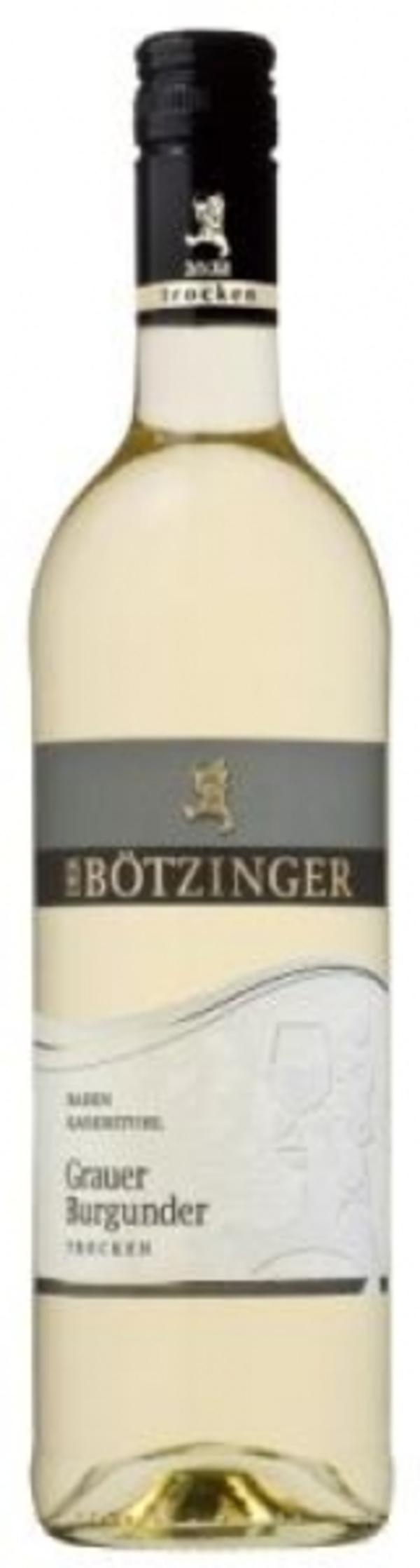 WG Bötzingen Grauer Burgunder trocken 2018 0,75 ltr