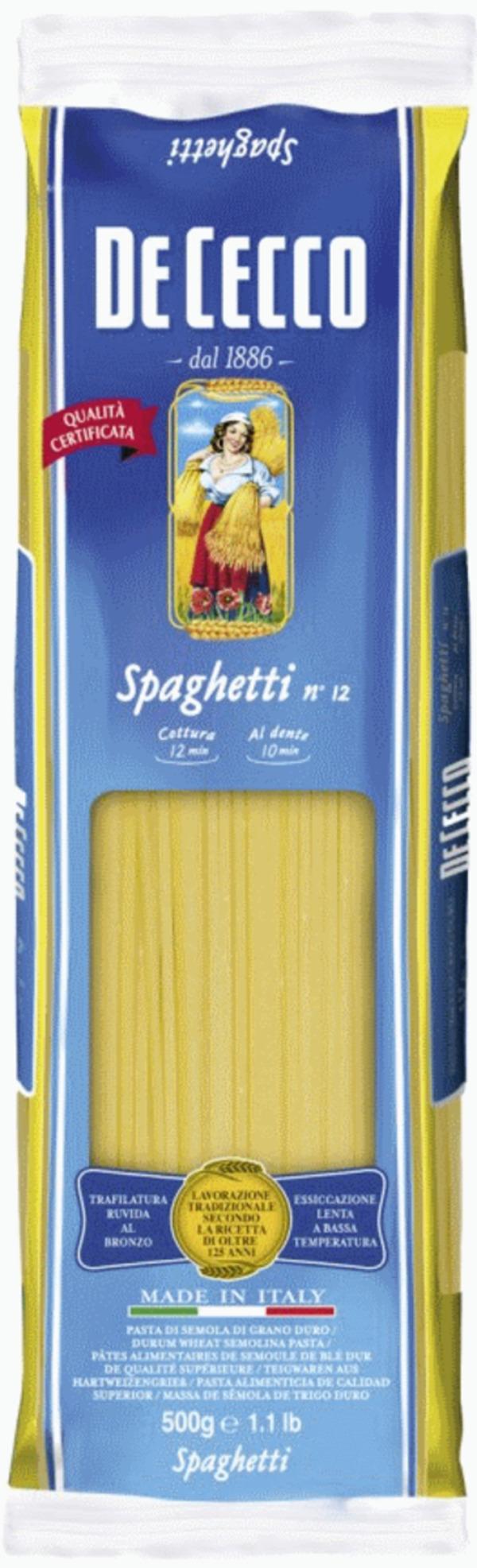 De Cecco Spaghetti No 12 500 g