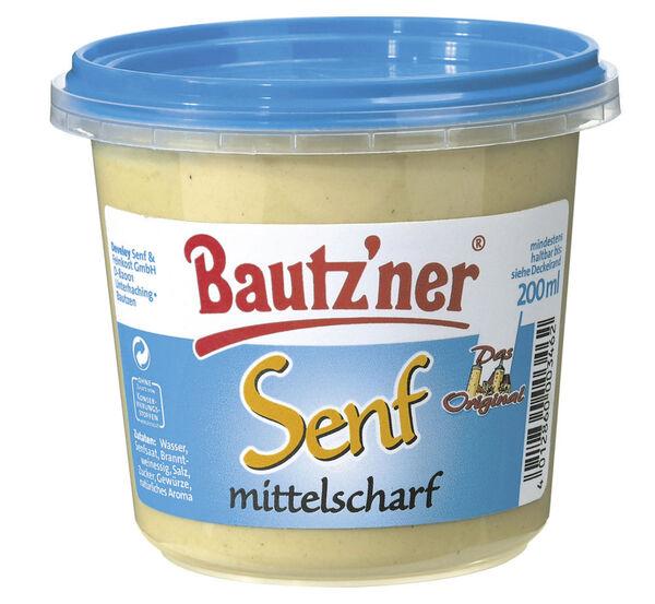 Bautzner Senf mittelscharf 200 ml