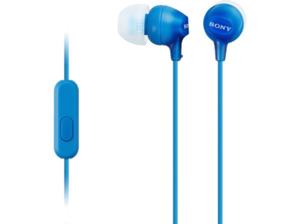 SONY MDR-EX15AP, In-ear Headset  Blau