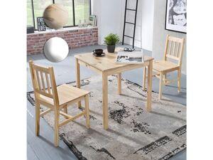 Wohnling Esszimmerset EMIL Tischgruppe Holz Essgruppe Esszimmer Esstischset