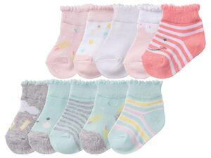 LUPILU® Baby Socken Mädchen, 5 Paar, mit Baumwolle