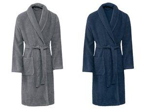 MIOMARE® Bademantel Herren, wadenlang, Schalkragen, schnelltrocknend, aus reiner Baumwolle