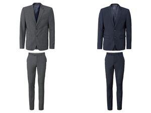 LIVERGY® Anzug Herren, mit Gehschlitz, Brusttasche und Manschettenknöpfen