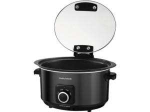 MORPHY RICHARDS 461020 Sear & Stew Slow Cooker, Transluzent/Schwarz