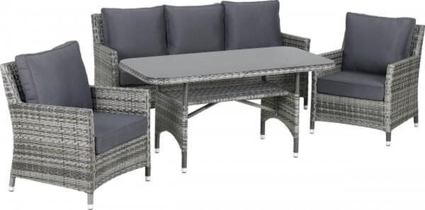 Primaster Dining-Lounge-Set Laredo inkl. Sitz- und Rückenkissen