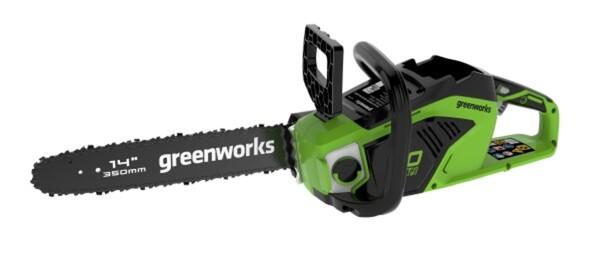Greenworks Akku Kettensäge 40 V ohne Akku und Ladegerät, 35 cm Schwertlänge