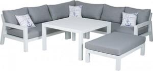 Primaster Aluminium-Dining-Lounge Tirana inkl. Auflagen und Zierkissen, extra tiefe Sitzfläche