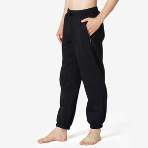 Jogginghose 500 Regular Training Herren schwarz