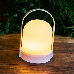 LED-Laterne in modernem Design, ca. 14x13x21cm