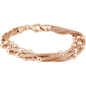 "Vandenberg Damen Armband ""65021909R"", 925er Silber, rosévergoldet"