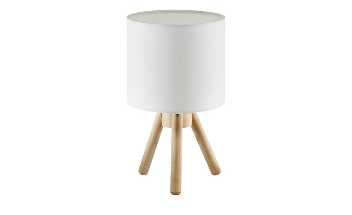 Bild 1 von Tischleuchte, 1-flammig, Stoffschirm weiß