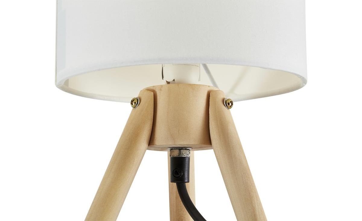 Bild 3 von Tischleuchte, 1-flammig, Stoffschirm weiß