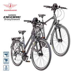 Alu-Trekkingrad Silver 5.0 28er - Shimano Schalt-/Bremshebel - Alu-V-Bremsen - Rahmenhöhe: 48 cm (Damen), 55 cm (Herren) - verstellbarer Alu-Lenkervorbau - Preis für vormontierte Räder - je