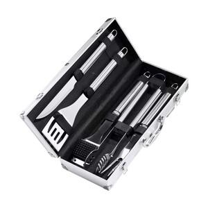 Grillbesteck Kansas 5-teilig, im Aluminium- Koffer