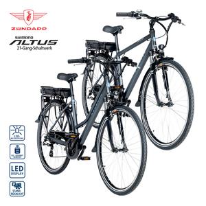 Alu-Elektro-Trekkingrad Green 7.7 28er - Fahrunterstützung bis ca. 25 km/h - Li-Ionen-Akku mit hochwertigen Markenzellen 36 V/10,4 Ah, 374 Wh - Reichweite: bis ca. 80 km (je nach Fahrweise) - wartun