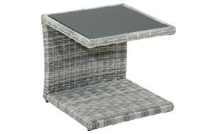 Ploß & Co. - Garten-Beistelltisch Petrana in grau-weiß, meliert